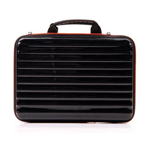 """Сумка-кофр деловая BRAUBERG «Tango» (БРАУБЕРГ «Танго»), отделение для планшета и ноутбука 13,3"""", 25×35×3 см, жест. пласт., черная"""
