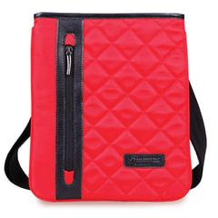 Сумка-мини на ремне BRAUBERG «Palermo», для повседневной переноски личных вещей, 27×23 см, ткань, красная