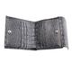 Портмоне женское BEFLER «Кайман», натуральная кожа, кнопка, крокодил, 105×110 мм, серое