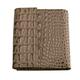 Портмоне женское BEFLER «Кайман», натуральная кожа, кнопка, крокодил, 105×110 мм, бежевое