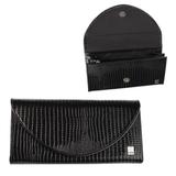 Портмоне женское BEFLER «Ящерица», натуральная кожа, магнитный замок, тиснение, 190×100 мм, черное