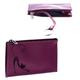 Футляр для ключей BEFLER «Изящная кошка», натуральная кожа, тиснение, молния, 130×85 мм, фиолетовый