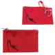 Футляр для ключей BEFLER «Изящная кошка», натуральная кожа, тиснение, молния, 130×85 мм, красный