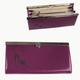 Портмоне женское BEFLER «Изящная кошка», натуральная кожа, металлический замок, тиснение, 186×95 мм, фиолетовое