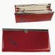 Портмоне женское BEFLER «Изящная кошка», натуральная кожа, металлический замок, тиснение, 186×95 мм, красное