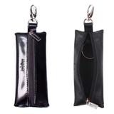 Футляр для ключей BEFLER «Classic», натуральная кожа, на молнии, 55×135 мм, черный