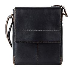 Сумка молодежная FABULA «Kansas», натуральная кожа, отстрочка, магнитный замок, 240×280×40 мм, черная