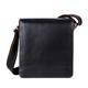 Сумка молодежная FABULA «Kansas», натуральная кожа, контрастная отстрочка, магнитный замок, 185×210×65 мм, черная