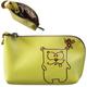 Футляр для ключей FABULA «Friends», натуральная кожа, молния, тиснение, 120×65×25 мм, лимон