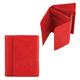Портмоне женское FABULA «Abstraction», натуральная кожа, кнопка, декоативное тиснение, 115×100 мм, красное