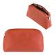 Косметичка женская FABULA «Talisman», натуральная кожа, геометрическое тиснение, молния, 225×90×130 мм, рыжая