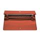 Портмоне женское FABULA «Talisman», натуральная кожа, кнопка, геометрическое тиснение, 200×95 мм, рыжее