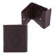 Портмоне женское FABULA «Talisman», натуральная кожа, кнопка, геометрическое тиснение, 102×105 мм, шоколадное