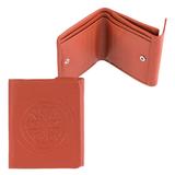 Портмоне женское FABULA «Talisman», натуральная кожа, кнопка, геометрическое тиснение, 102×105 мм, рыжее
