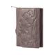 Портмоне женское FABULA «Astra», натуральная кожа, кнопка, декоративное тиснение, 115×100 мм, какао