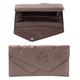 Портмоне женское FABULA «Astra», натуральная кожа, кнопка, декоративное тиснение, 205×105 мм, какао