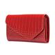 Портмоне женское FABULA «Croco Nile», натуральная кожа, кнопка, крокодил, 205×105 мм, красное