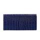 Портмоне женское FABULA «Croco Nile», натуральная кожа, кнопка, крокодил, 200×95 мм, синее
