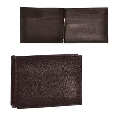 Зажим для купюр BEFLER «Грейд», натуральная кожа, тиснение, 120×86 мм, коричневый