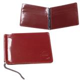 Зажим для купюр BEFLER «Classic», натуральная кожа, тиснение «знак евро», 120×86 мм, коньяк
