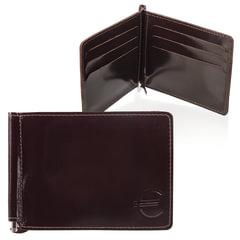 Зажим для купюр BEFLER «Classic», натуральная кожа, тиснение, 120×86 мм, коричневый