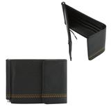 Зажим для купюр FABULA «Brooklyn», натуральная кожа, контрастная отстрочка, 86×126 мм, черный