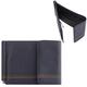 Зажим для купюр FABULA «Brooklyn», натуральная кожа, контрастная отстрочка, 86×126 мм, синий