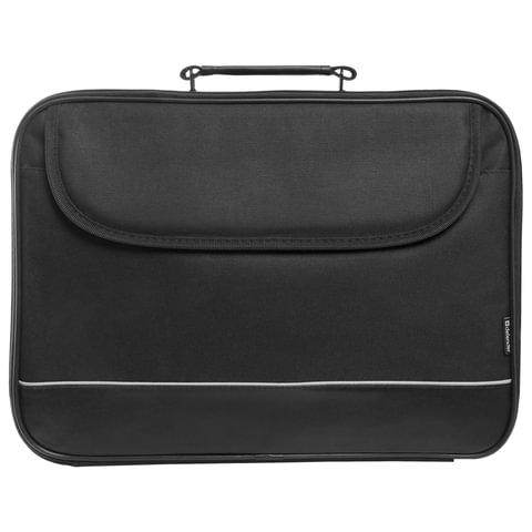 Сумка деловая для офиса и учебы DEFENDER «Ascetic», отделение для планшета и ноутбука, 15,6, 40×29×4 см, жестий каркас, черная