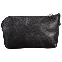 Футляр для ключей FABULA «Estet», натуральная кожа, на молнии, 75×125×25 мм, черный