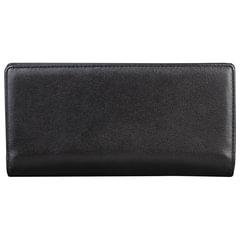 Портмоне мужское FABULA «Estet», натуральная кожа, на кнопке, 185×95 мм, черное