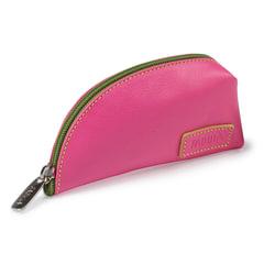 Футляр для ключей FABULA «Ultra», натуральная кожа, молния, 145×75×40 мм, розовый