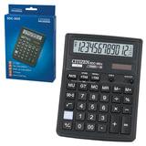 Калькулятор CITIZEN настольный SDC-382II, 12 разрядов, двойное питание, 190×136 мм