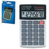 Калькулятор CITIZEN карманный SLD-7708, 8 разрядов, двойное питание, 112×68 мм