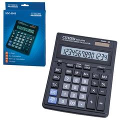 Калькулятор CITIZEN настольный SDC-554S, 14 разрядов, двойное питание, 199×153 мм