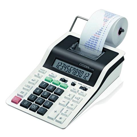 Калькулятор CITIZEN печатающий CX-32N, 12 разрядов, 226×147 мм (бумажный ролик 110364, картридж 250197)