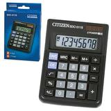Калькулятор CITIZEN настольный SDC-011S, 8 разрядов, двойное питание, 87×120 мм