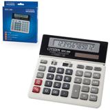 Калькулятор CITIZEN настольный SDC-368, 12 разрядов, двойное питание, 152×154 мм