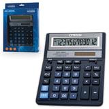 Калькулятор CITIZEN настольный SDC-888XBL, 12 разрядов, двойное питание, 205×159 мм, синий