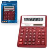 Калькулятор CITIZEN настольный SDC-888ХRD, 12 разрядов, двойное питание, 205×159 мм, красный