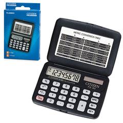 Калькулятор CITIZEN карманный FS-60BKII, 8 разрядов, двойное питание, 97×69 мм
