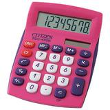 Калькулятор CITIZEN карманный SDC-450NPKCFS, 8 разрядов, двойное питание, 120×72 мм, розовый