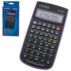 Калькулятор CITIZEN инженерный SR-260NPU, 10+2 разряда, питание от батарейки, 154×80 мм, фиолетовый