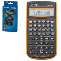 Калькулятор CITIZEN инженерный SR-260NOR, 10+2 разряда, питание от батарейки, 154×80 мм, оранжевый