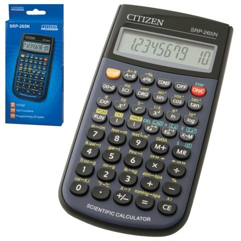 Калькулятор CITIZEN инженерный SRP-265N, 8+2 разряда, питание от батарейки, 154×80 мм