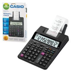 Калькулятор CASIO печатающий HR-150RCE-WA, 12 разрядов, питание от батареек (4 х АА) или адаптера (250402)