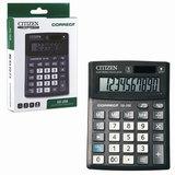 Калькулятор CITIZEN настольный Correct SD-208, 8 разрядов, двойное питание, 103×138 мм, черный