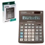 Калькулятор CITIZEN настольный Correct D-314, 14 разрядов, двойное питание, 155×205 мм, черный