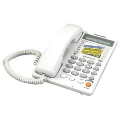Телефон PANASONIC KX-TS2365 RUW, память на 30 номеров, ЖК-дисплей с часами, автодозвон, спикерфон