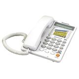 Телефон PANASONIC KX-TS2365RUW, память на 30 номеров, ЖК-дисплей с часами, автодозвон, спикерфон