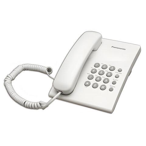 Телефон PANASONIC KX-TS2350RUW, белый, повторный набор, тональный/<wbr/>импульсный режим
